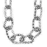 Behave Dicke Halskette Silber farbig - Silberfarbene Halskette für Frauen - Dicke Halskette für Frauen