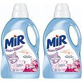 Mir - Textiles Délicats - Lessive Liquide Concentrée - Flacon 1,5 L / 25 Lavages - Lot de 2