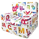 Sillón Infantil de Espuma Modelo Happy, Estampado Abecedario, Medida 44x46x35cm