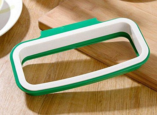 Dunkle Cappuccino-holz (Tütenspender, Küche Papierkorb Schrank Door Hanging Haken Trash Tasche Halter Organizer)