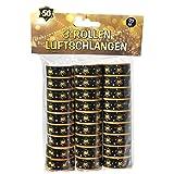 Luftschlangen 50.Geburtstag Deko 27 Stück schwarz/Gold Papierschlangen mit Zahl 50 Dekoration zum 50er Geburtstag oder Dekoration zur Goldenen Hochzeit Party oder Andere Anlässe
