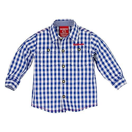 BONDI Karohemd, karo blue/weiss 80 Tracht Baby Jungs Artikel-Nr.90865