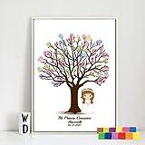 GreatHomeArt Libro de Invitados para Baby Shower, diseño de Huellas de Huellas Dactilares, para