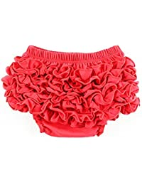 BHouir Baby Girl Ruffle Pant Bloomers Couverture en couches S (Rouge)