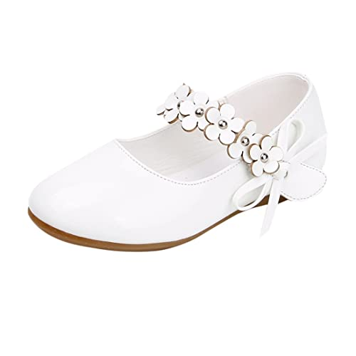 Kinder Schuhe Ballerina Mädchen Lackschuhe weiß 23: Amazon