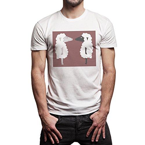 SWAG Two Sheep Background Herren T-Shirt Weiß