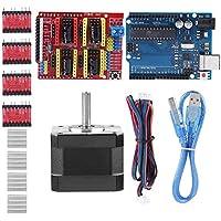Zerone Kits de Impresora 3D CNC Shield V3.0 + UNO R3 Board + Nema