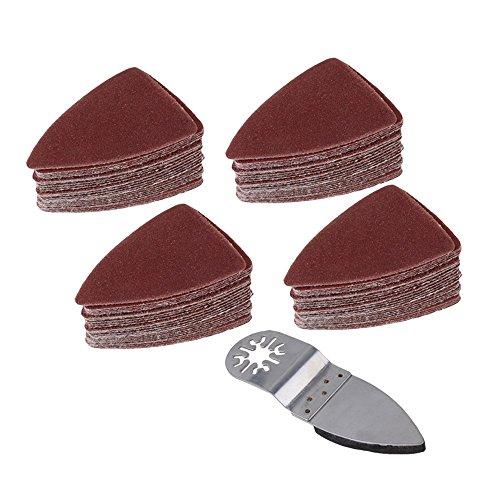 Preisvergleich Produktbild cnbtr Universal Pendelndes Multitool Polieren Finger Schleifen Pad Disc Schleifen Schleifpapier-Bettlaken-Set von 5