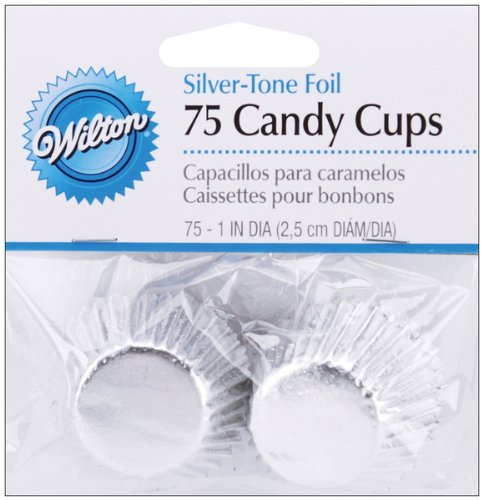 Bon Bon-Silver Foil 36/Pkg Mini Baking Cups W415307