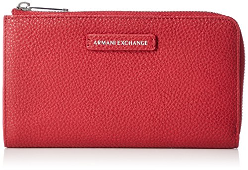 Armani Exchange - Pebble Pu Round Zip Wallet