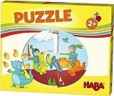 HABA 303761 - HABA-Lieblingsspiele – Puzzles Ritter und Prinzessin |6 Puzzles mit je 2 Teilen aus stabiler Pappe | Kinderpuzzle mit bunten Märchenmotiven | Spielzeug ab 2 Jahren