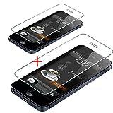 ALPEXE Lot DE 2 Films de Protection d'écran Verre trempé pour iPhone 5 / 5G / 5C / 5S / 5GS / 5SE