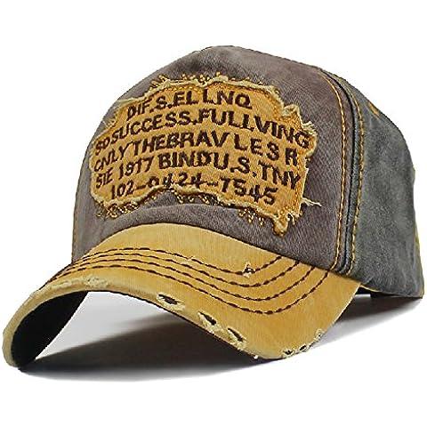 Men's Distressed Vintage Baseball Cap Snapback Trucker Hat, Outdoor Sports Baseball Hat, Hiking Hat, Fishing Hat by Sun Hat