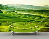 Vliestapete Grüne Toskana VT512 Größe:400x280cm, Fototapete, Vlies Tapete, High Quality, PREMIUM Bildtapete, Tapete Italien Landschaft Grün