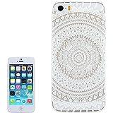 iPhone 5 durchsichtige Hardcase Hülle Mandala   iPhone5 Case Schutzhülle mit Muster Design Cover klar   Movoja   weiß transparent Apple iPhone-5