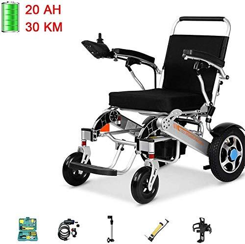 XXY.XXY Rollstuhl Leichte Elektrische Rollstuhl Ultra Tragbare Automatische Klapp High Power Dual Motor Intelligentebremse (Farbe: C500 24AH fernbedienung) -