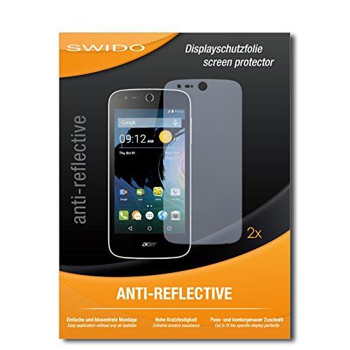 SWIDO Schutzfolie für Acer Liquid M330 [2 Stück] Anti-Reflex MATT Entspiegelnd, Hoher Härtegrad, Schutz vor Kratzer/Bildschirmschutz, Bildschirmschutzfolie, Panzerglas-Folie