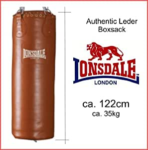 lonsdale authentic sac de boxe sac de frappe de cuir marron sports et loisirs. Black Bedroom Furniture Sets. Home Design Ideas