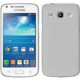 PhoneNatic Case für Samsung Galaxy Core Plus Hülle weiß gummiert Hard-case + 2 Schutzfolien
