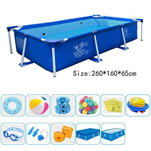 Swimmingpool - Großer Verdickter Aufblasbarer Übergroßer Familienstand-Swimmingpool Blau B 260 * 160 * 65Cm