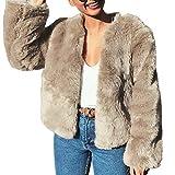 dcf275347e1 Amphia Abrigo De Piel Suave, Abrigo Corto Cardigan Mujer Invierno Abrigo  Abrigado Mujer Chaqueta Invierno