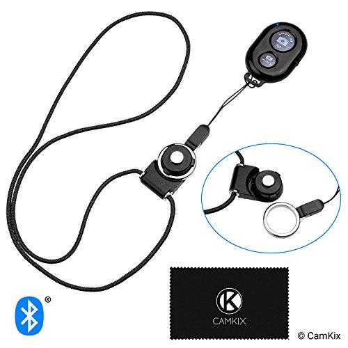 Camkix® Control Remoto del Obturador de Cámara con Tecnología Inalámbrica Bluetooth Negro – Cordón con Montaje de Anillo Desmontable – Capturar imágenes/Video Inalámbrico hasta 10 m