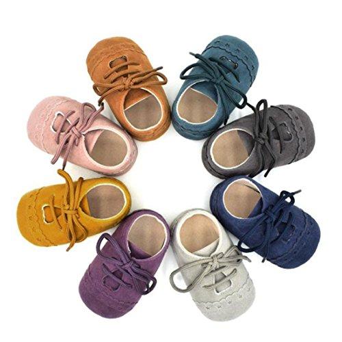 Zapatos De Bebé  Amlaiworld primeros pasos para niño niña zapatillas de bebé antideslizante de encaje hasta zapatos 0 18 Mes