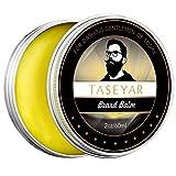 barba balsamo, Taseyar 60ml 100% cera naturale profumata barba balsamo burro per la cura della barba, manutenzione e migliorare la crescita creare stili di barba, baffi, pizzetto e basette-Set regalo per uomo immagine