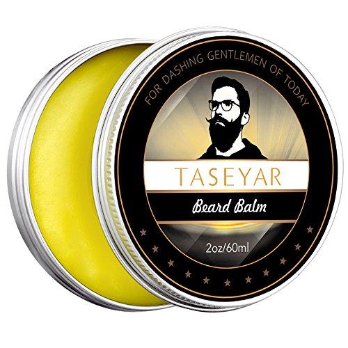 Bartbalsam TASEYAR Biologischer Bartwachs für starken und langen Halt natürliches Beard Balm mit frischer Duft für Bartpflege, Schnurrbärte & Spitzbärte- 60 ml XL