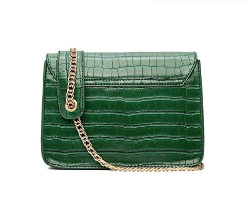 Mini Fashion Chain Bag Uniform Umhängetasche Messenger Bag Lock Kleine Square Bag Einfach Green