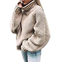 Celucke Womens Off The Shoulder Sweater Casual Knitted Solid Long Sleeve Sweatshirt Pullover Tops Blouse Daily Outwear