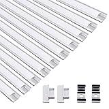 Jirvyuk LED Aluminium Profil Aluminium Extrusion Milchig Deckel Endkappen Metall Befestigungs Clips (Silber-U04)