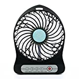 KooPower 3 Speed Adjustable USB Mini Desktop Fan Battery Operated Portable Fan PC Laptop Mac USB Cooler Cooling Fan Table For Office Home and Travel