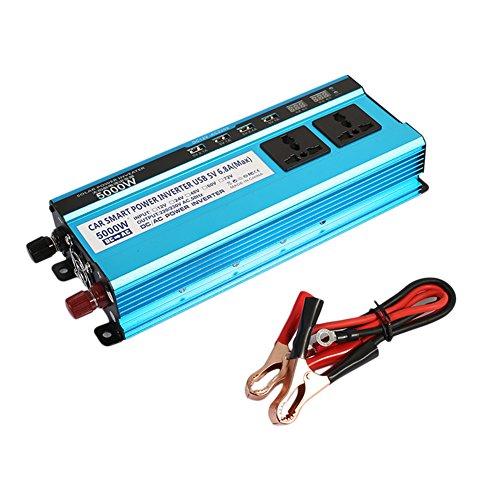 Solar Power Inverter Converter Portable mit Digitalanzeige 4USB Stromversorgung Automobil