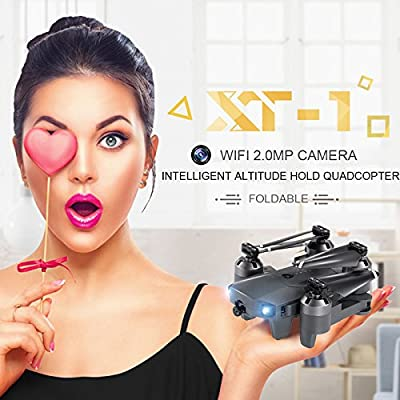 Fenghong XT-1 plus 1080P WIFI Camera Quadcopter,UAV Drone Durable 6 Axis Gyro Visual Follow Speed Adjustable Premium High Performance