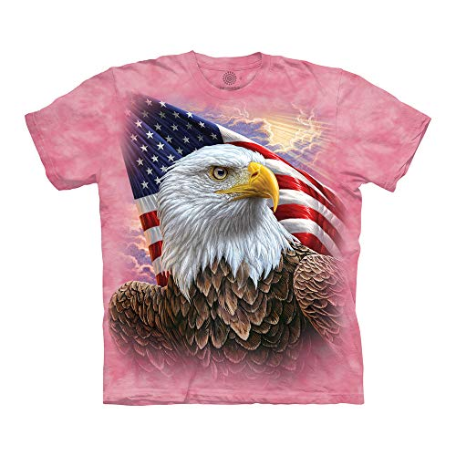 The Mountain Unisex-Erwachsene Independence Eagle T-Shirt, Rose, Small - Eagle Damen Rosa T-shirt