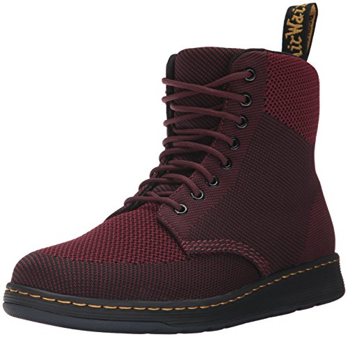 Dr.Martens Womens Rigal Knit Textile Boots Oxblood / Nero