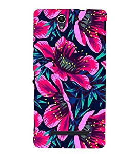Fiobs Flowers Theme Floral Love Lovely Gift Designer Back Case Cover For Sony Xperia C3 Dual :: Sony Xperia C3 Dual D2502