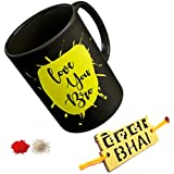 Thirsty Guys Gift For Rakshabandhan | Rakhi Gift For Sister And Brother | Rakhi Gift For Brother | Gift For Sister | Rakhi Gift | Rakshabandhan Gift Ideas | Online Rakhi Gifts |printed Coffee Mug, Wooden Rakhi, Roli, Chawal (Rakhi- Dildar Bhai)