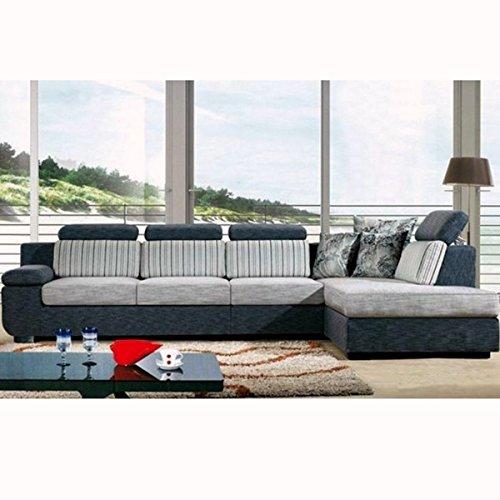 Bagno italia divano angolare soggiorno 330x200 cm microfibra chaise longue sfoderabile