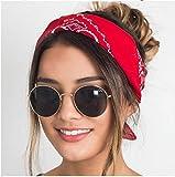Knncch 2018 Mode Frauen Haarschmuck Leinen Bandana Schal Platz Weibliche Bandanas Headwear Rock Coole Mädchen Multi Stirnbänder Rot