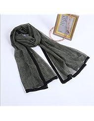 ZLL Señoras salvajes simple bufanda, Encaje decorativo Ms tejer chales, bufandas , 7