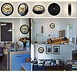 NJY2 Wanduhr, Retro Lounge Mute Wanduhr zeigt alte Tasche rund um die Uhr Wanduhr Schlafzimmer (Grund: C),C