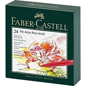 Faber-Castell Pitt Artist Pen Gift Box x 24 Colours