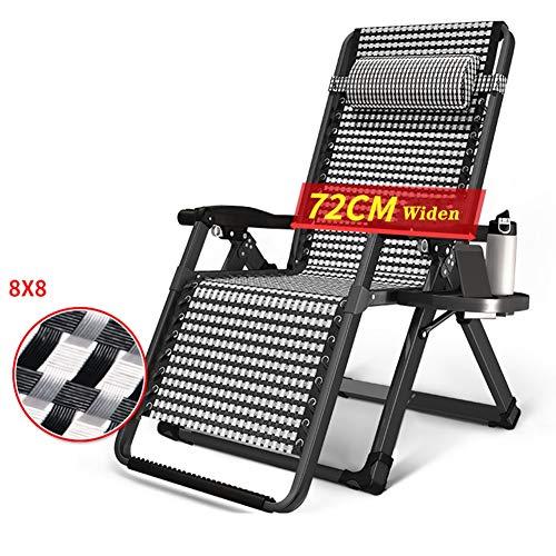 Liegestuhl Erweitern Sie Faltende Aufenthaltsraum-Recliner-Stühle Für Patio/Poolside/Plattform - Justierbare Schwerelosigkeits-Hochleistungsstühle Mit Kopfstütze Und Becherhalter - Unterstützungen