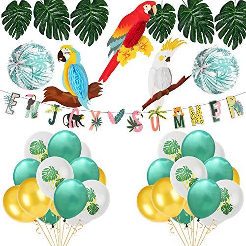 ko Aloha Hawaii Party Dschungel Tropische Blätter Sommer Party Supplies (Enjoy Summer) ()