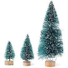 meco navidad nieve venados mini rbol adornos home decor rbol mm