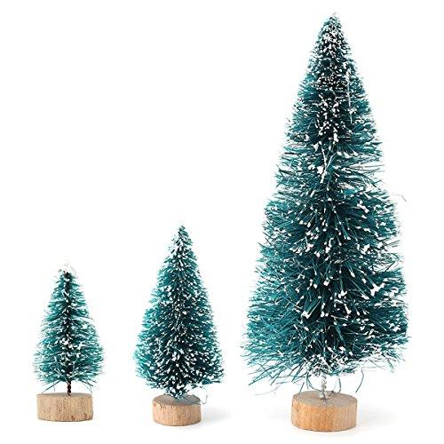MECO Navidad Nieve Venados Mini Árbol Adornos Home Decor Árbol 45/65/125 mm 45mm
