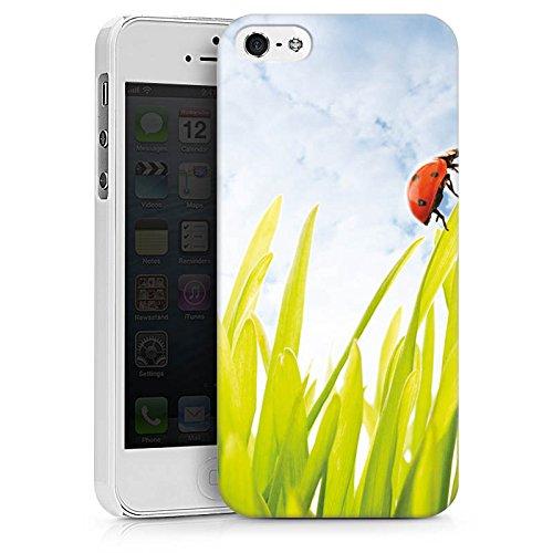 Apple iPhone X Silikon Hülle Case Schutzhülle Grashalm Marienkäfer Himmel Hard Case weiß
