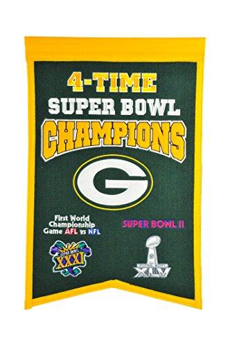 Winning Streak NFL Green Bay Packers 4x Super Bowl Champions Banner, eine Größe, Multicolor